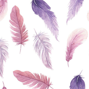 Fly Away Feathers Purple Pink
