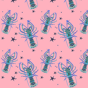 Pink and Blue Lobsters