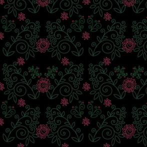 Moody Florals pattern