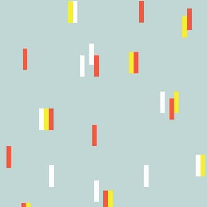Minimal rain drops nineties revival retro design mint yellow orange