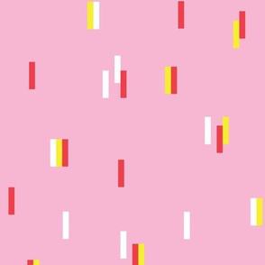 Minimal rain drops nineties revival retro design pink yellow orange