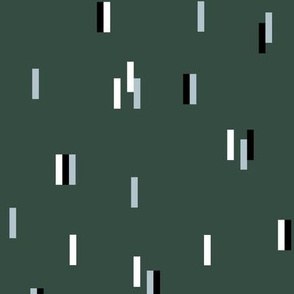 Minimal rain drops nineties revival retro design winter green blue
