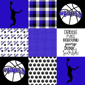 Basketball//Miners - Wholecloth Cheater Quilt