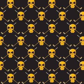 Skull & Sticks - Golden