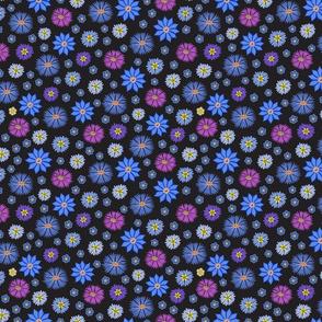 Wildflowers on Black