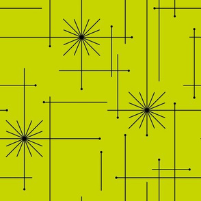 Orbs Starburst - Lime/Black