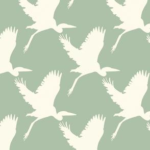 Take flight in seafoam green