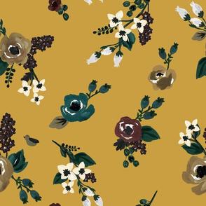 Maroon & Mustard Florals