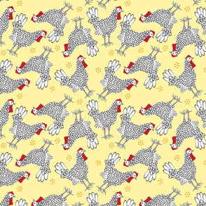 Bantams on Yellow-small