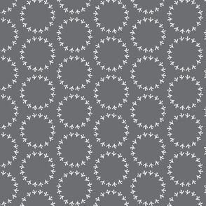 Dark Gray Polka Dot