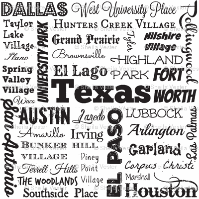 Texas cities, white