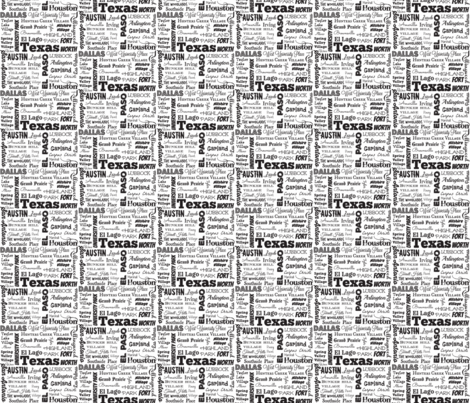Texas cities, white fabric by svester on Spoonflower - custom fabric