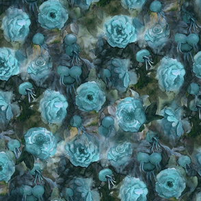 turquoise blue roses