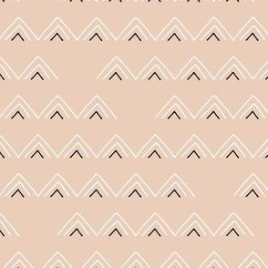 Geometric minimal triangles mudcloth abstract aztec design light sand beige spring