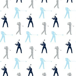 (small scale) golfers - navy, blue, grey muticolored - LAD19