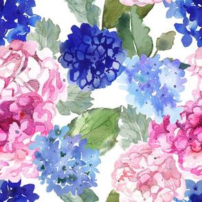 Spring Hydrangea Watercolor