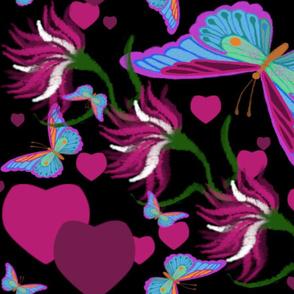 FLUTTERING FLOWERS n HEARTS