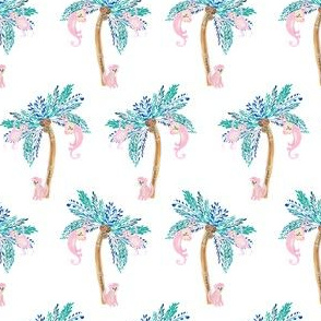 """4"""" Palm Trees with Monkeys Version 2"""