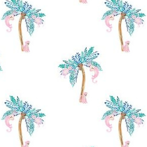 """4"""" Palm Trees with Monkeys"""