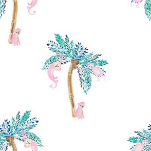 """8"""" Palm Trees with Monkeys"""