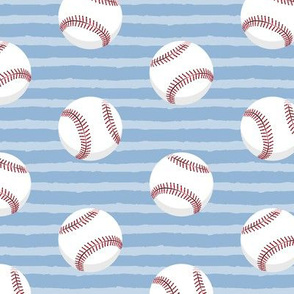 (large scale) baseballs - light blue stripes C19BS