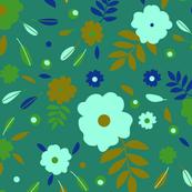 Modern Flower Allover Halfdrop Repeat