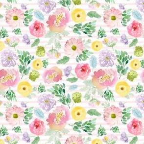 "4"" Andalusia Spring Free Falling Light Pastel Pink Stripes"
