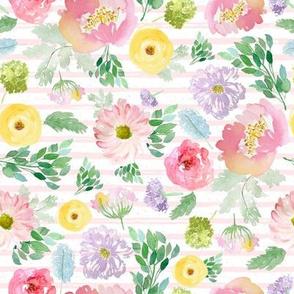 "8"" Andalusia Spring Free Falling Light Pastel Pink Stripes"