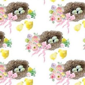 """4"""" Easter Basket White"""