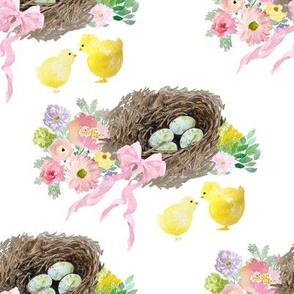 """8"""" Easter Basket White"""