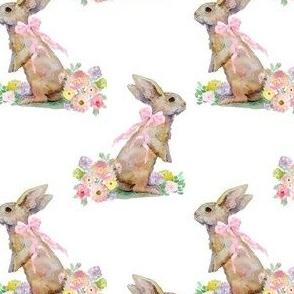 "4"" Spring Bunny White"