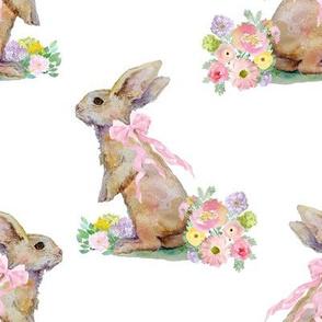 "8"" Spring Bunny White"