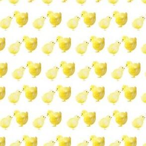 """4"""" Spring Chicks White"""