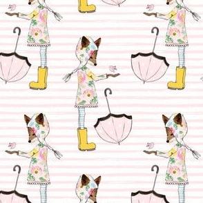 "4"" Spring Friends Pastel Pink Stripes"