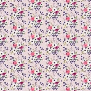 "1.5"" Boho Purple & White / Pink Background"