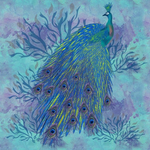 peacock Print tleft