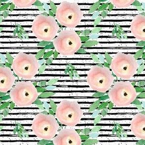 """4"""" Spring Roses Black and White Stripes"""