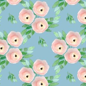 "4"" Spring Roses Easter Blue"