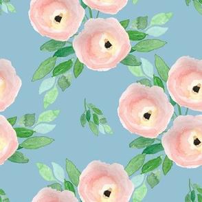 "8"" Spring Roses Easter Blue"