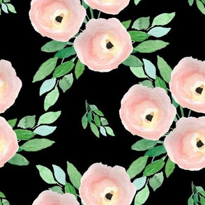 "8"" Spring Roses Black"