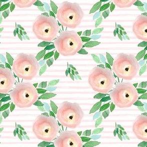 "4"" Spring Roses Light Pastel Pink Stripes"