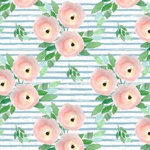 "4"" Spring Roses Easter Blue Stripes"