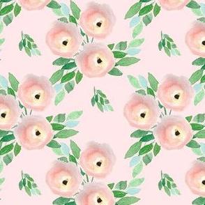 """4"""" Spring Roses Light Pastel Pink"""