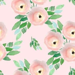 """8"""" Spring Roses Light Pastel Pink"""