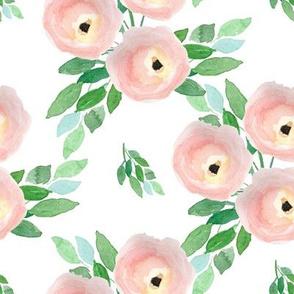 """8"""" Spring Roses White"""