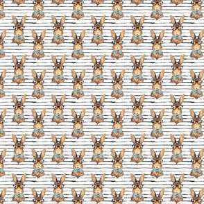 "1.15"" BUNNY WITH GLASSES larger stripes"