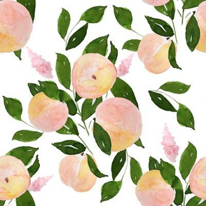 """8"""" Peach and Blooms White"""