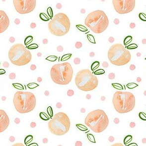 "4"" Peach and Polka Dots"