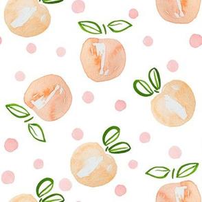 "8"" Peach and Polka Dots"