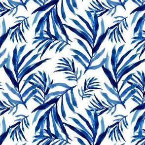 "4"" Blue Palm Fronds"